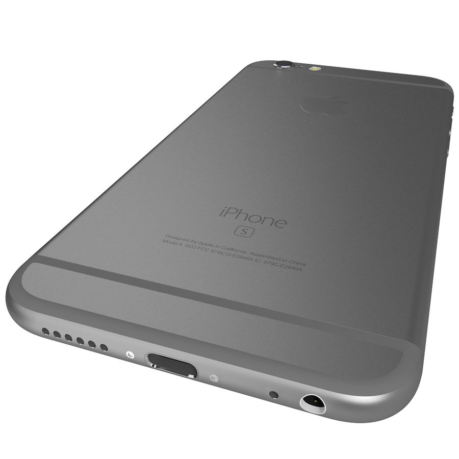 Apple iPhone 6s Space Grey royalty-free 3d model - Preview no. 11