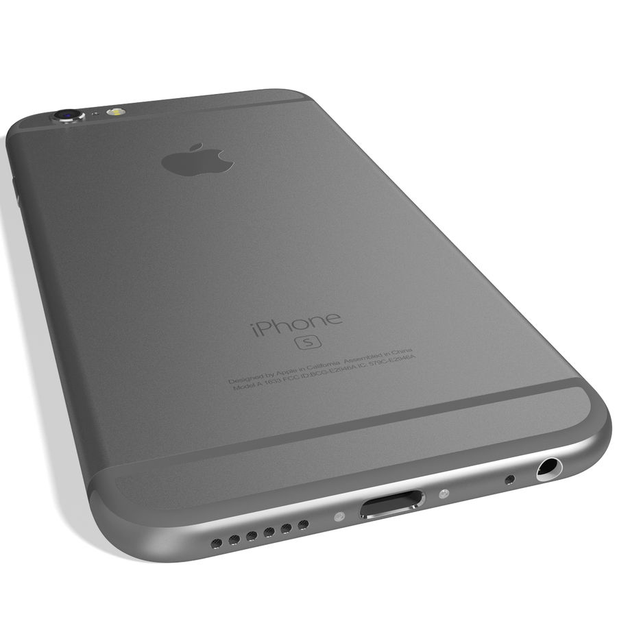 Apple iPhone 6s Space Grey royalty-free 3d model - Preview no. 10