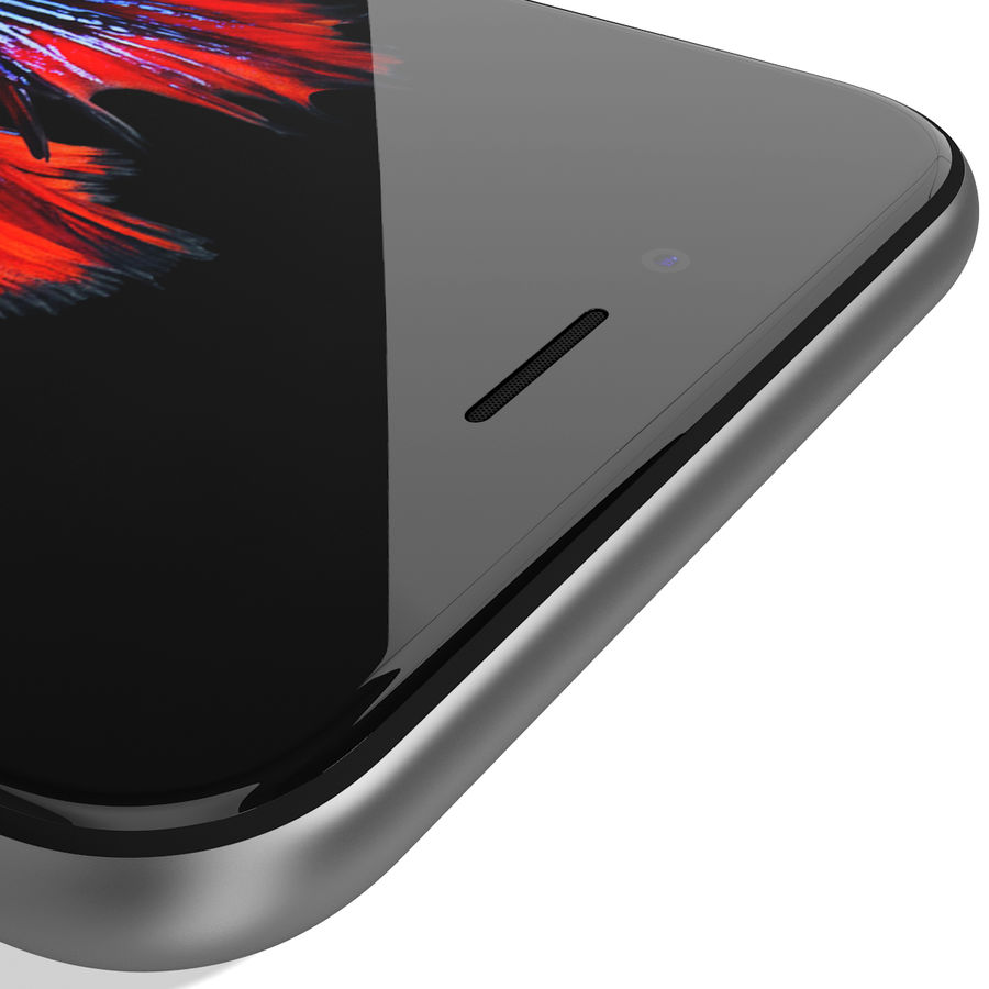 Apple iPhone 6s Space Grey royalty-free 3d model - Preview no. 18