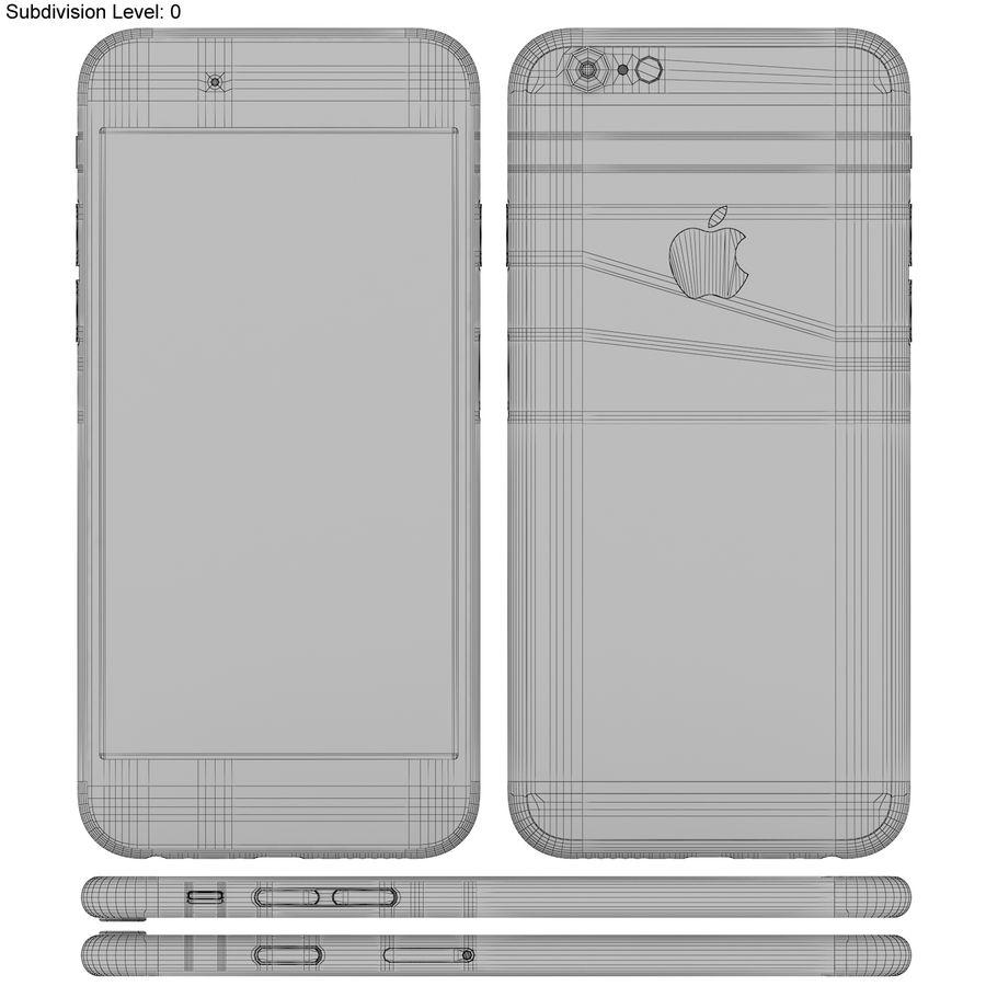 Apple iPhone 6s Espaço Cinzento royalty-free 3d model - Preview no. 21