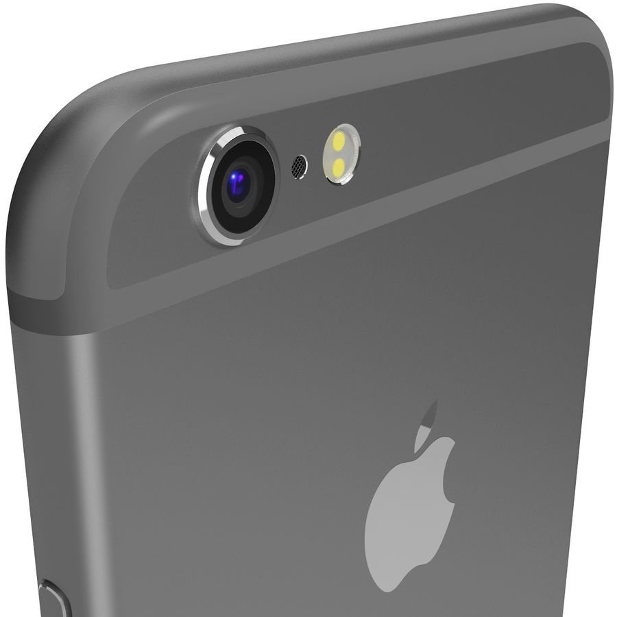 Apple iPhone 6s Space Grey royalty-free 3d model - Preview no. 8