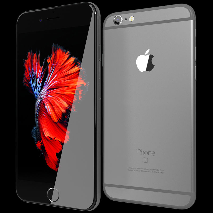 Apple iPhone 6s Space Grey royalty-free 3d model - Preview no. 2