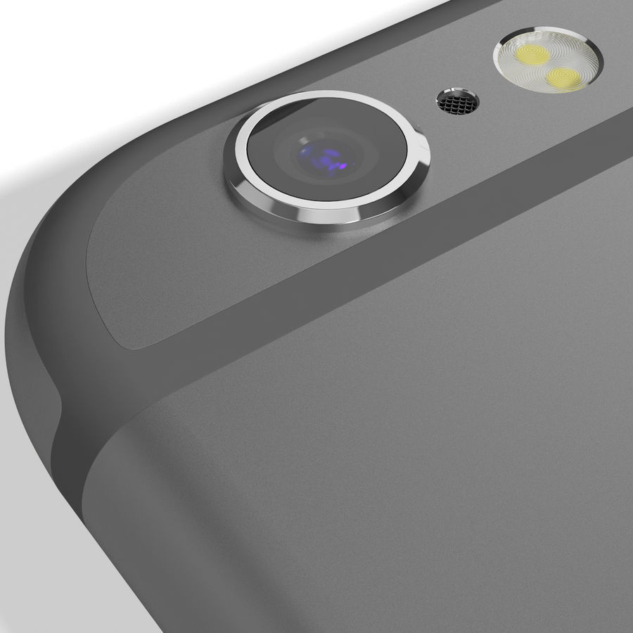 Apple iPhone 6s Space Grey royalty-free 3d model - Preview no. 15