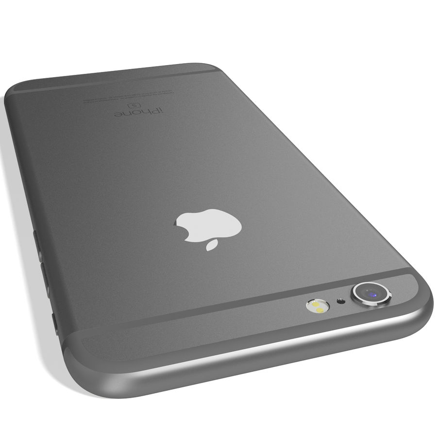 Apple iPhone 6s Space Grey royalty-free 3d model - Preview no. 9