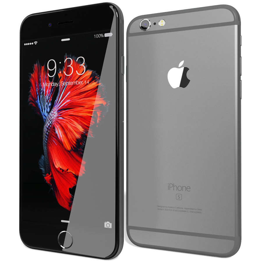 Apple iPhone 6s Space Grey royalty-free 3d model - Preview no. 4
