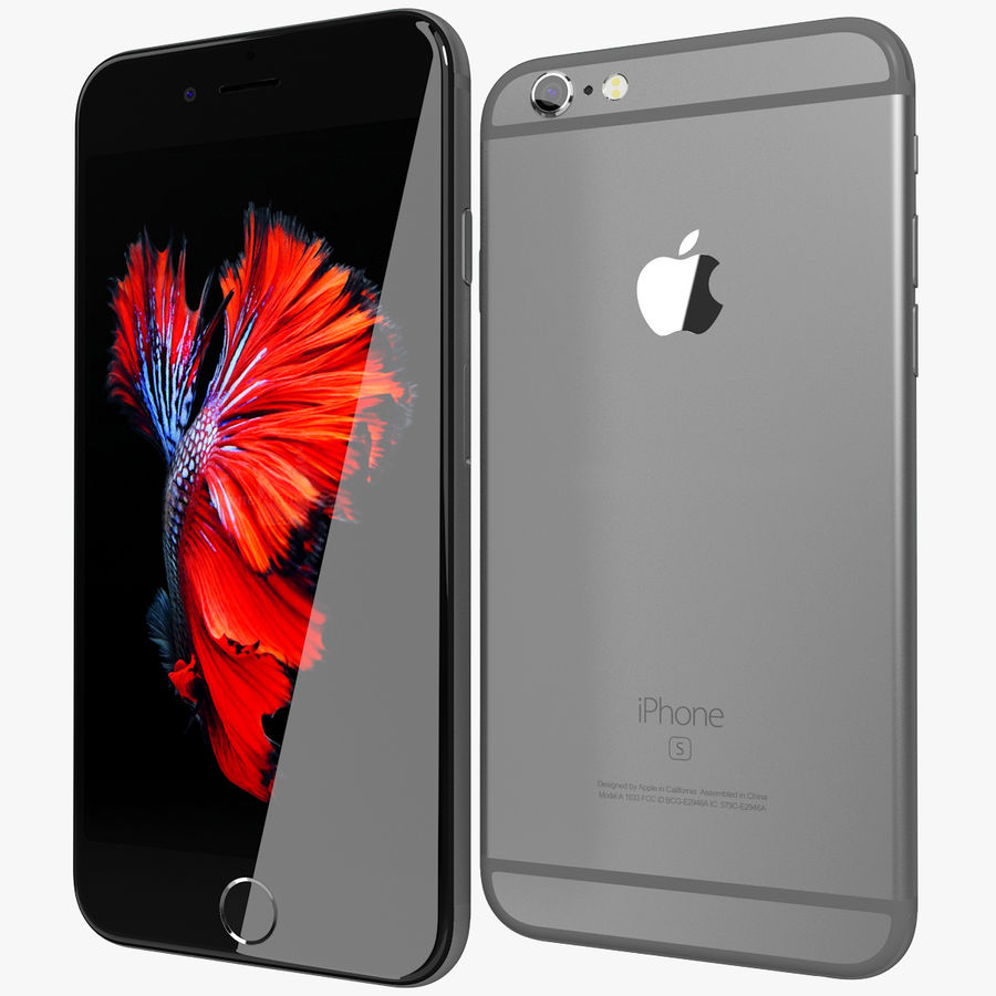 Apple iPhone 6s Space Grey royalty-free 3d model - Preview no. 1