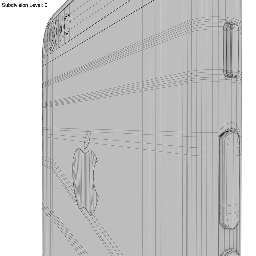 Apple iPhone 6s Space Grey royalty-free 3d model - Preview no. 27