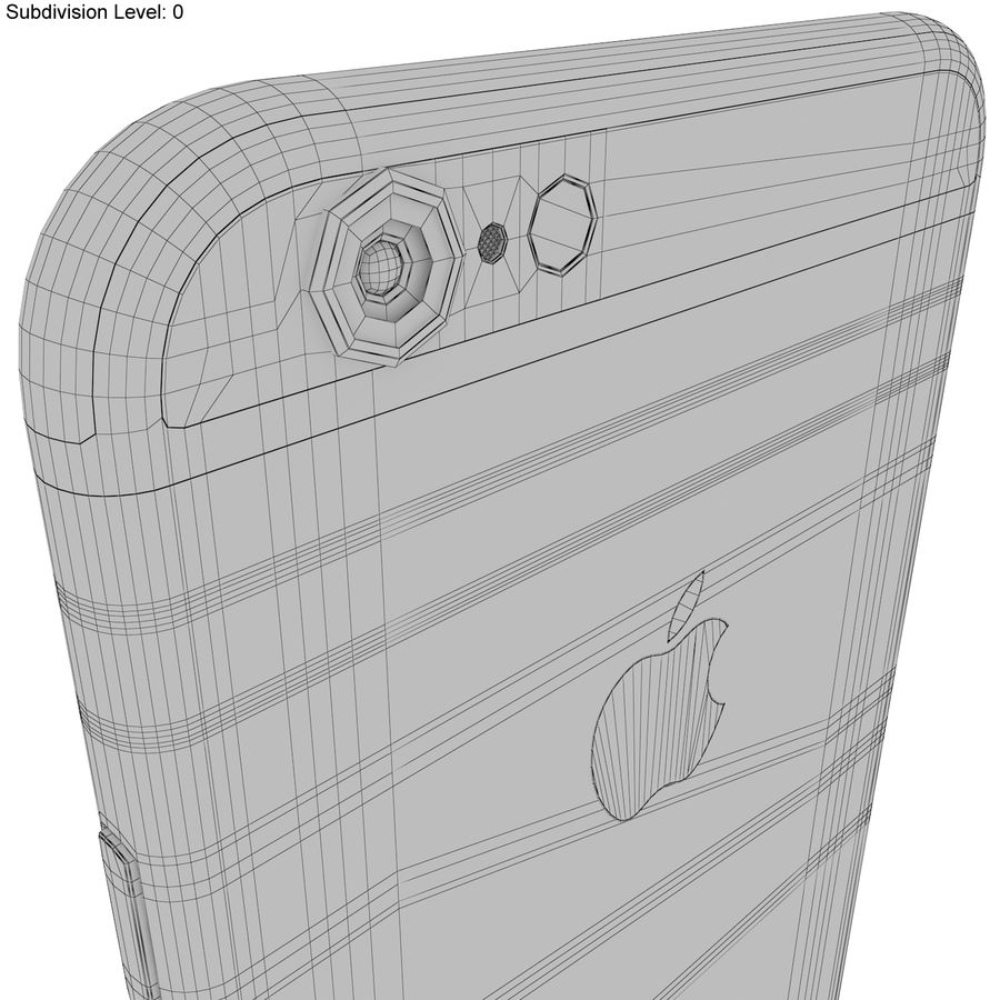 Apple iPhone 6s Prateado royalty-free 3d model - Preview no. 23