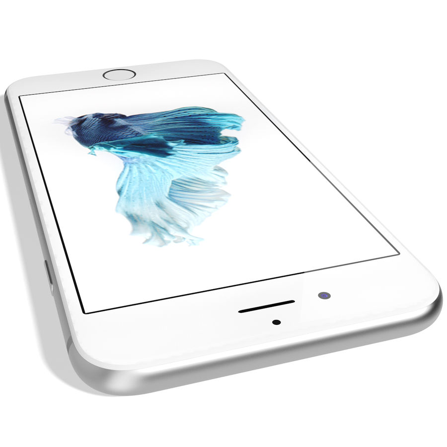 Apple iPhone 6s Prateado royalty-free 3d model - Preview no. 13
