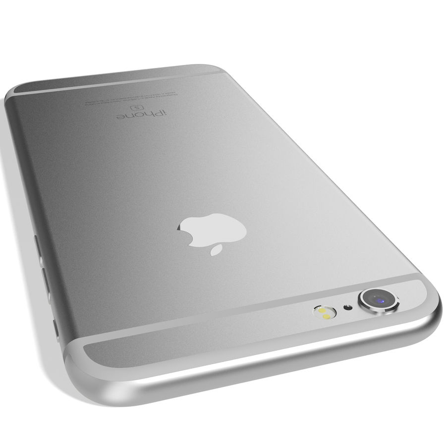 Apple iPhone 6s Prateado royalty-free 3d model - Preview no. 9