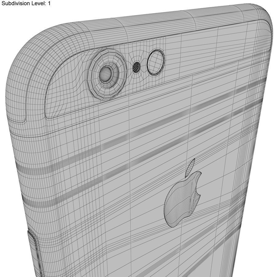 Apple iPhone 6s Prateado royalty-free 3d model - Preview no. 24