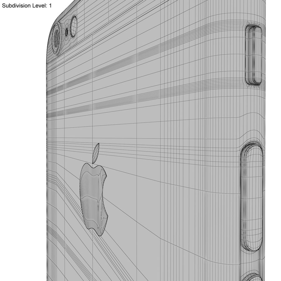 Apple iPhone 6s Prateado royalty-free 3d model - Preview no. 28