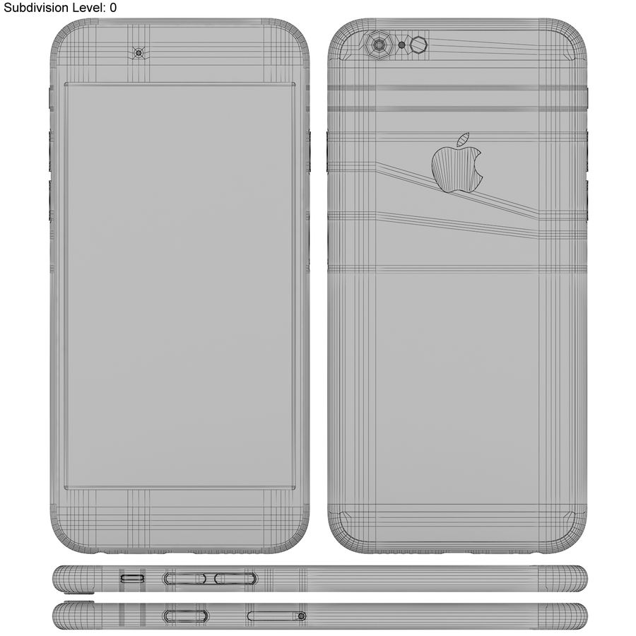 Apple iPhone 6s Prateado royalty-free 3d model - Preview no. 21