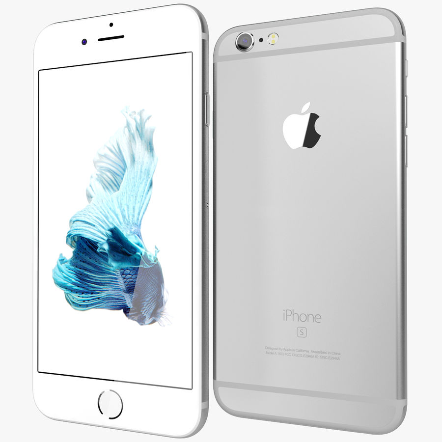 Apple iPhone 6s Prateado royalty-free 3d model - Preview no. 1