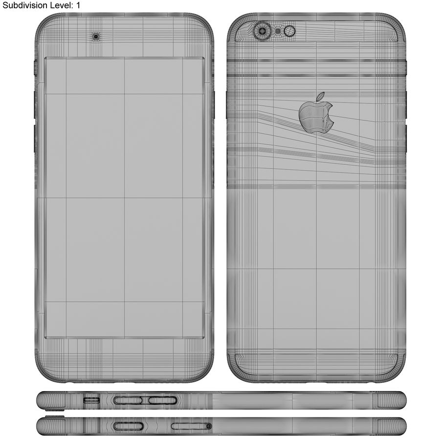 Apple iPhone 6s Prateado royalty-free 3d model - Preview no. 22