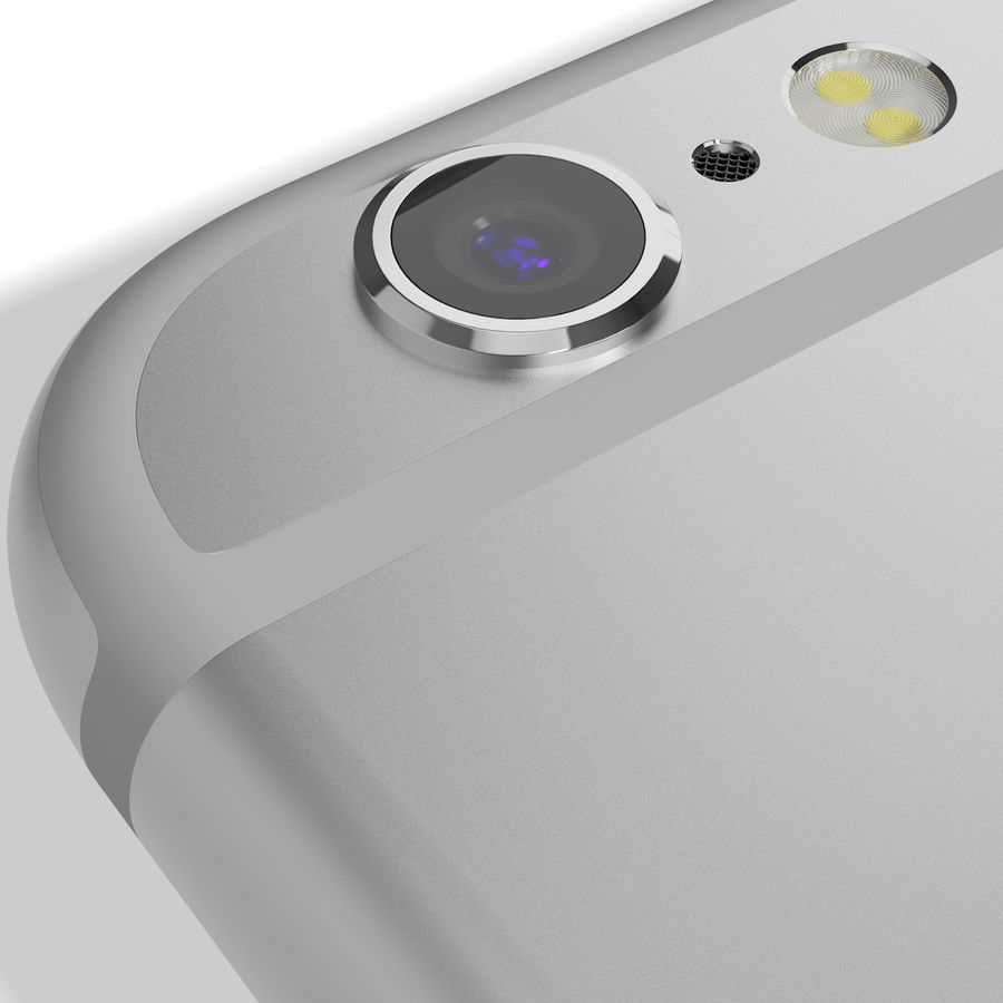 Apple iPhone 6s Prateado royalty-free 3d model - Preview no. 15