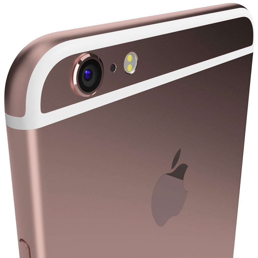 Apple iPhone 6s Plus Rose Gold royalty-free 3d model - Preview no. 8