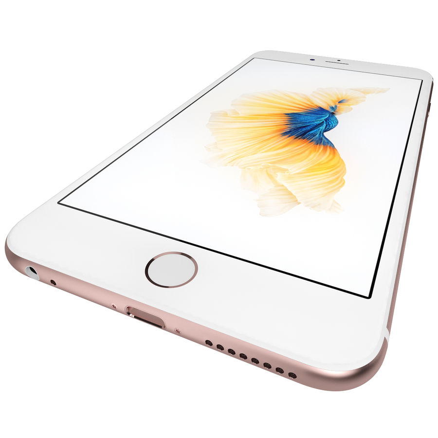 Apple iPhone 6s Plus Rose Gold royalty-free 3d model - Preview no. 14
