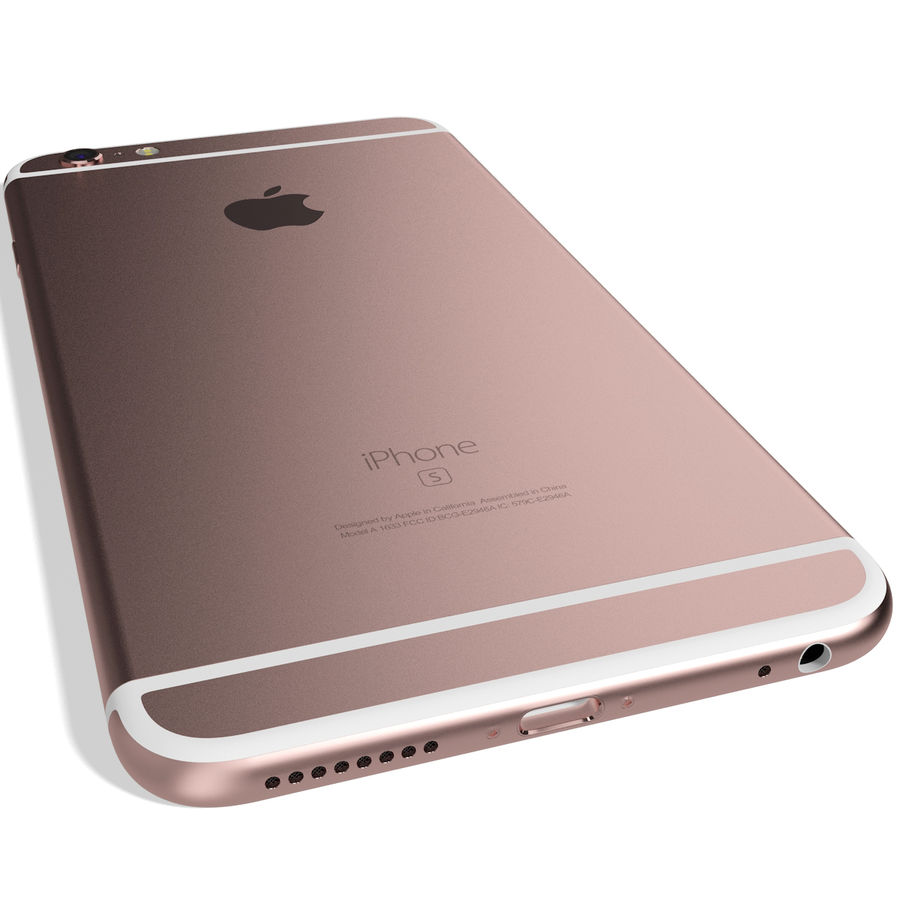Apple iPhone 6s Plus Rose Gold royalty-free 3d model - Preview no. 9