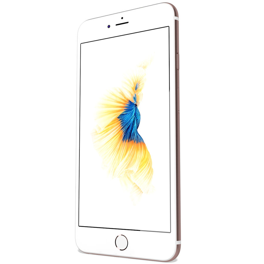 Apple iPhone 6s Plus Rose Gold royalty-free 3d model - Preview no. 7
