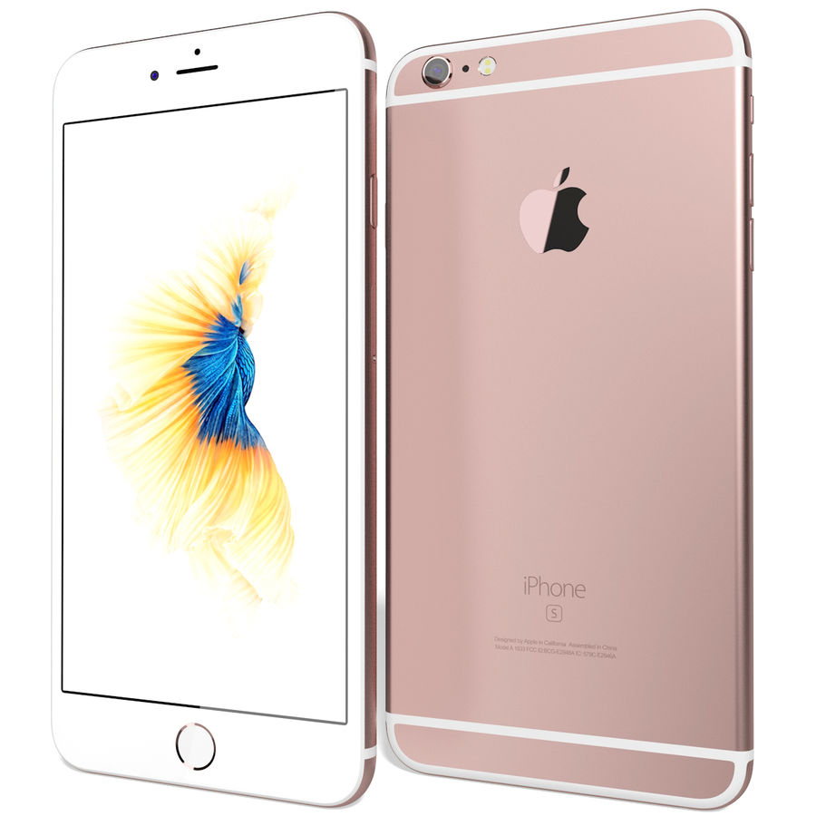 Apple iPhone 6s Plus Rose Gold royalty-free 3d model - Preview no. 3