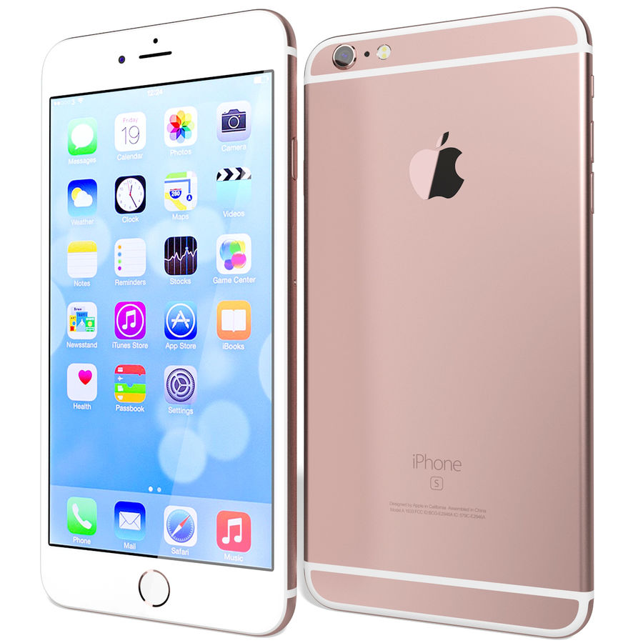 Apple iPhone 6s Plus Rose Gold royalty-free 3d model - Preview no. 5