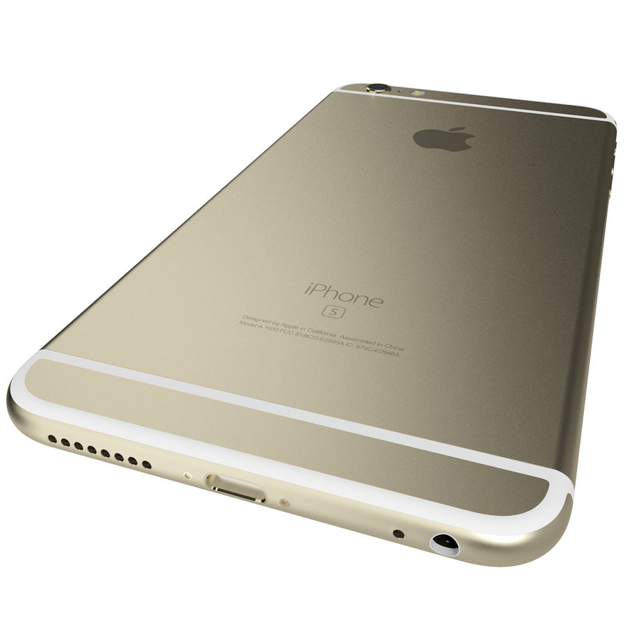 Apple iPhone 6s Plus Rose Gold royalty-free 3d model - Preview no. 11