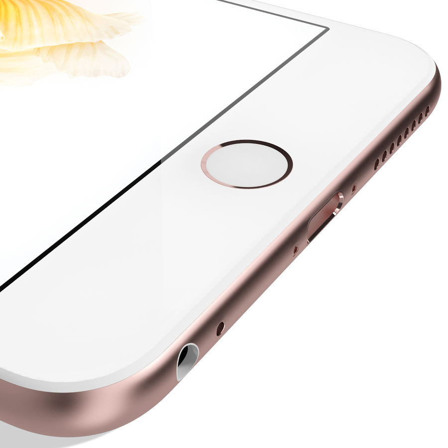 Apple iPhone 6s Plus Rose Gold royalty-free 3d model - Preview no. 17