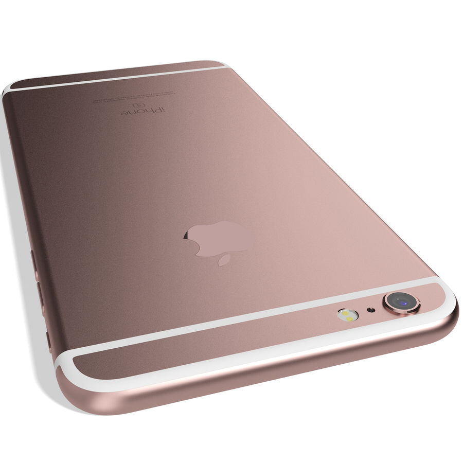 Apple iPhone 6s Plus Rose Gold royalty-free 3d model - Preview no. 10