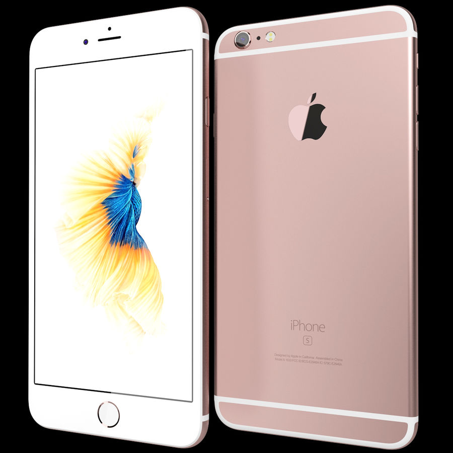 Apple iPhone 6s Plus Rose Gold royalty-free 3d model - Preview no. 2