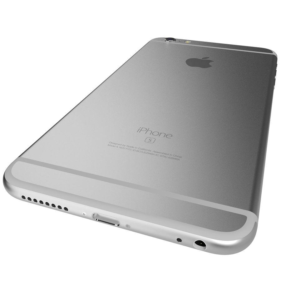 Apple iPhone 6s Artı Gümüş royalty-free 3d model - Preview no. 11