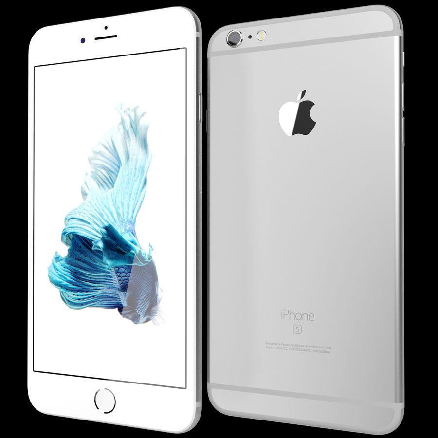 Apple iPhone 6s Artı Gümüş royalty-free 3d model - Preview no. 2