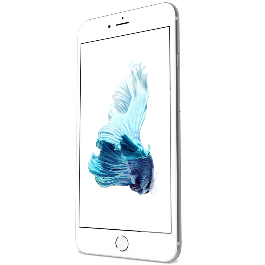Apple iPhone 6s Artı Gümüş royalty-free 3d model - Preview no. 7