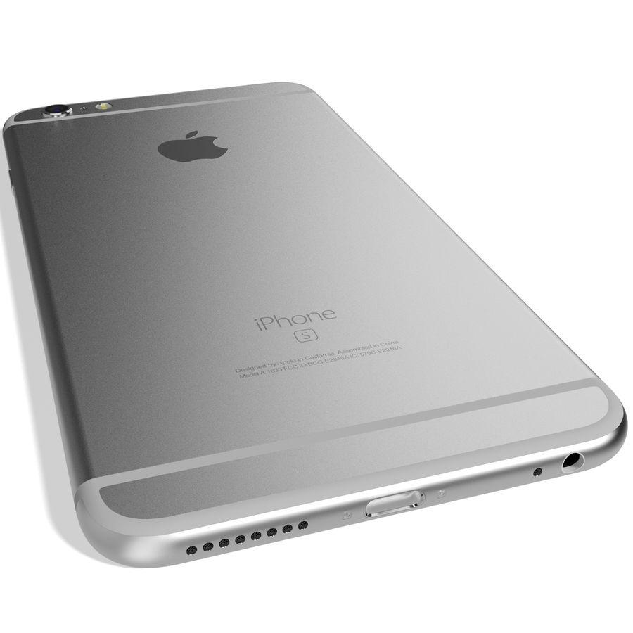 Apple iPhone 6s Artı Gümüş royalty-free 3d model - Preview no. 9