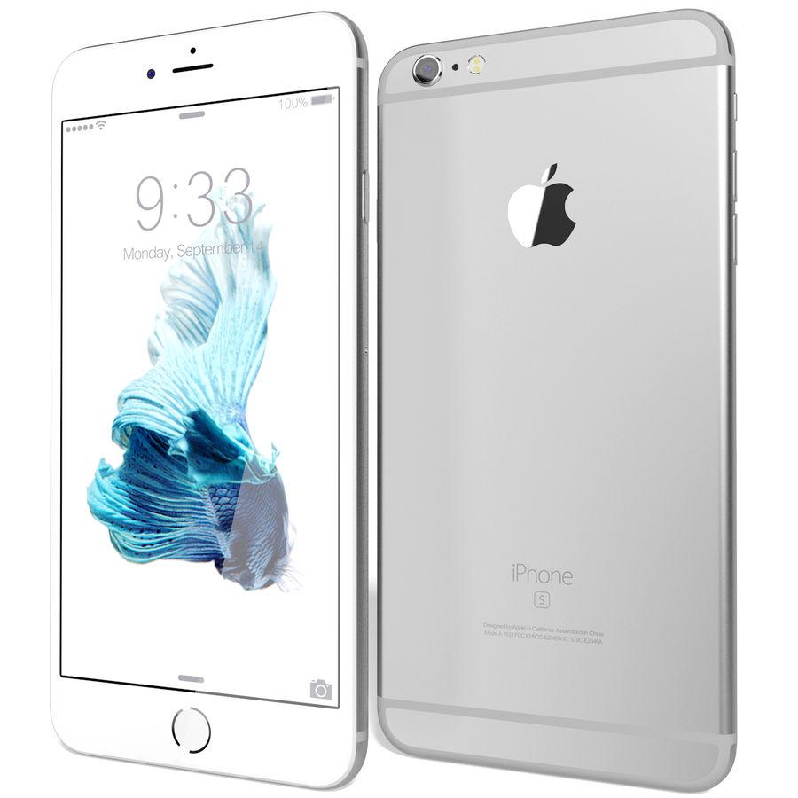 Apple iPhone 6s Artı Gümüş royalty-free 3d model - Preview no. 4