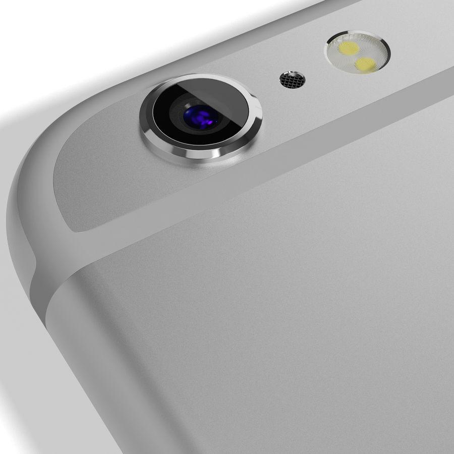 Apple iPhone 6s Artı Gümüş royalty-free 3d model - Preview no. 16