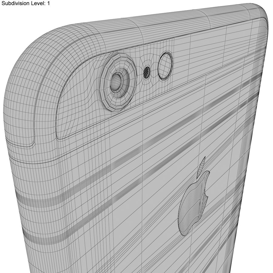 Apple iPhone 6s Artı Gümüş royalty-free 3d model - Preview no. 24
