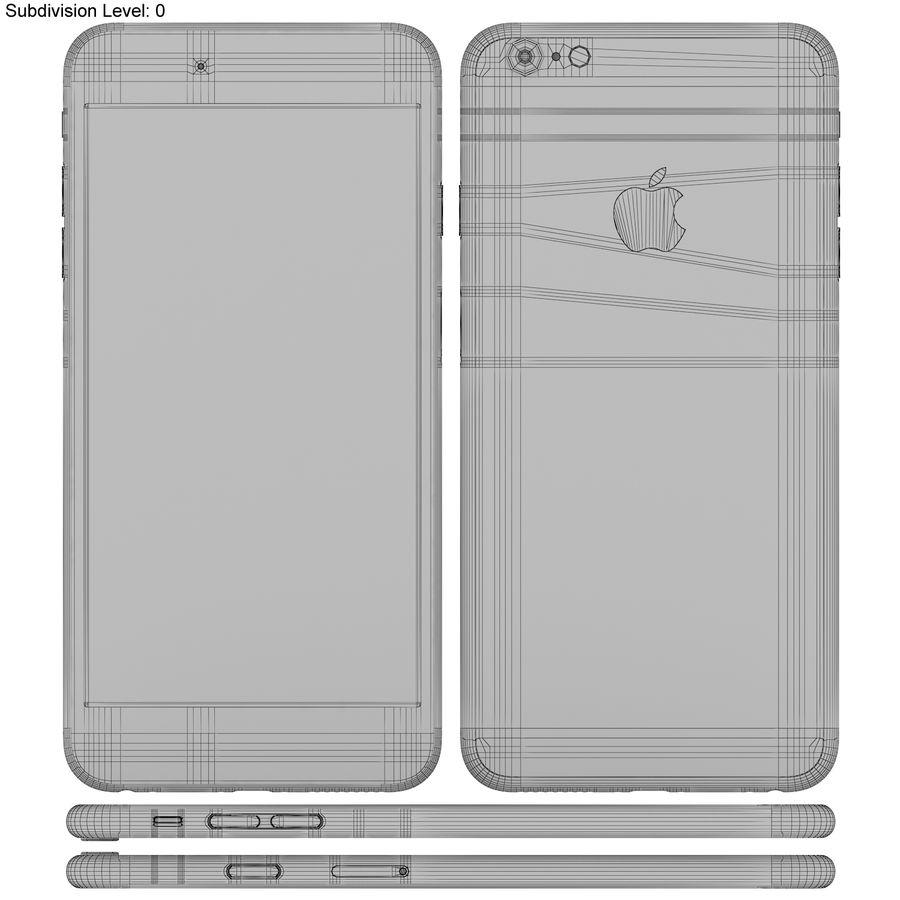 Apple iPhone 6s Artı Gümüş royalty-free 3d model - Preview no. 21