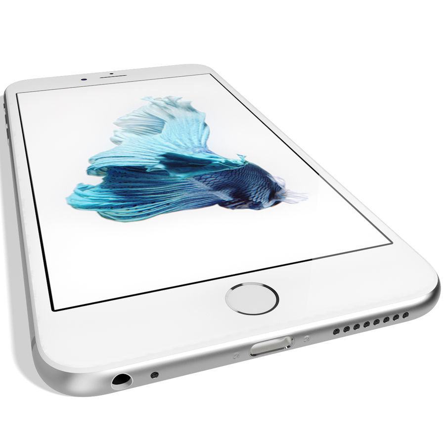 Apple iPhone 6s Artı Gümüş royalty-free 3d model - Preview no. 12