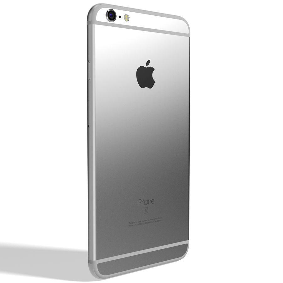 Apple iPhone 6s Artı Gümüş royalty-free 3d model - Preview no. 6