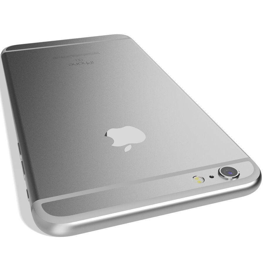 Apple iPhone 6s Artı Gümüş royalty-free 3d model - Preview no. 10