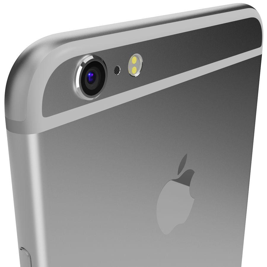 Apple iPhone 6s Artı Gümüş royalty-free 3d model - Preview no. 8