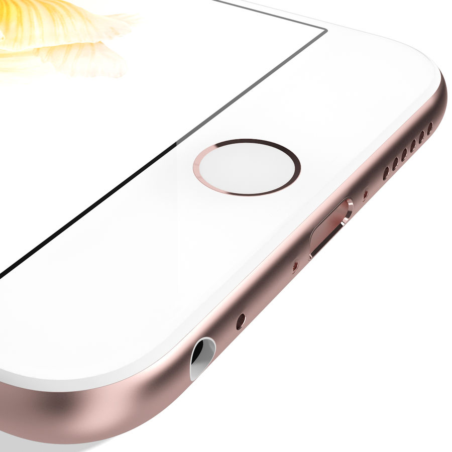 Apple iPhone 6s Rose Gold royalty-free 3d model - Preview no. 17