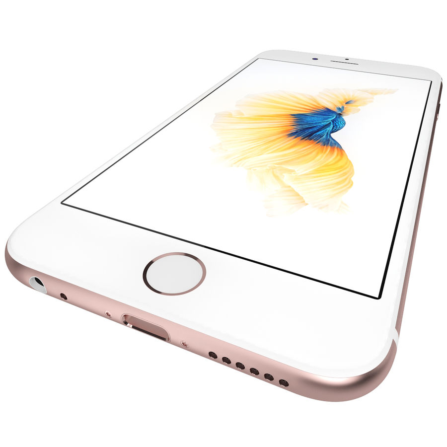 Apple iPhone 6s Rose Gold royalty-free 3d model - Preview no. 14