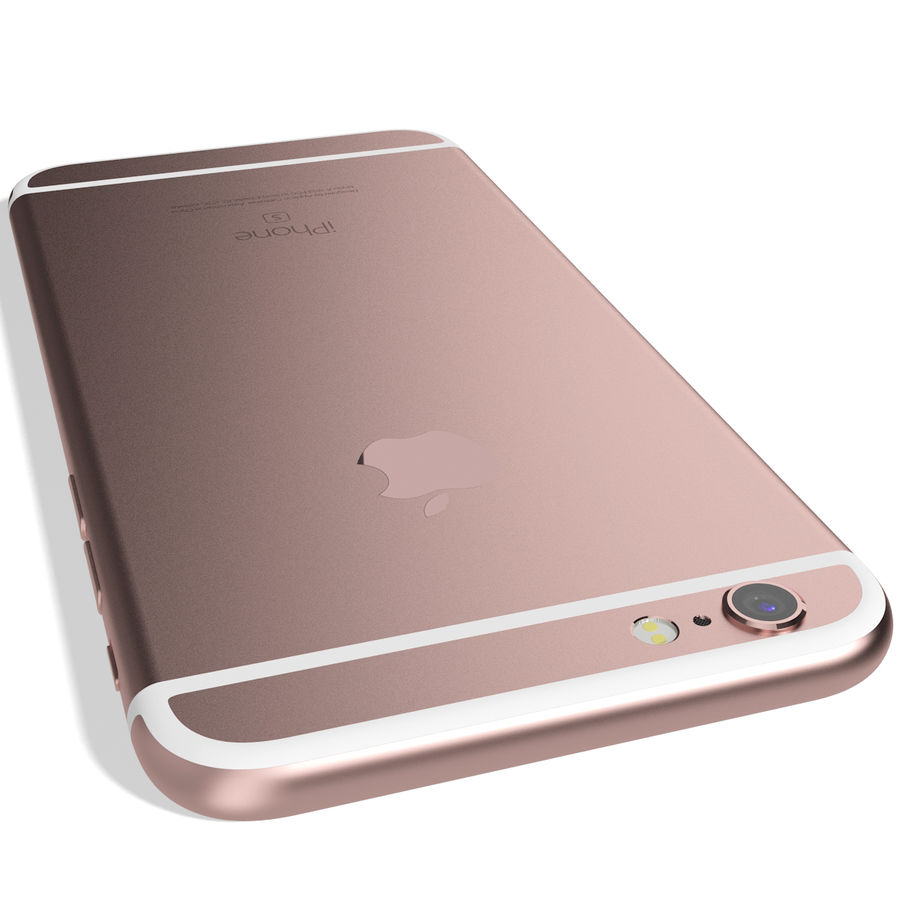 Apple iPhone 6s Rose Gold royalty-free 3d model - Preview no. 9