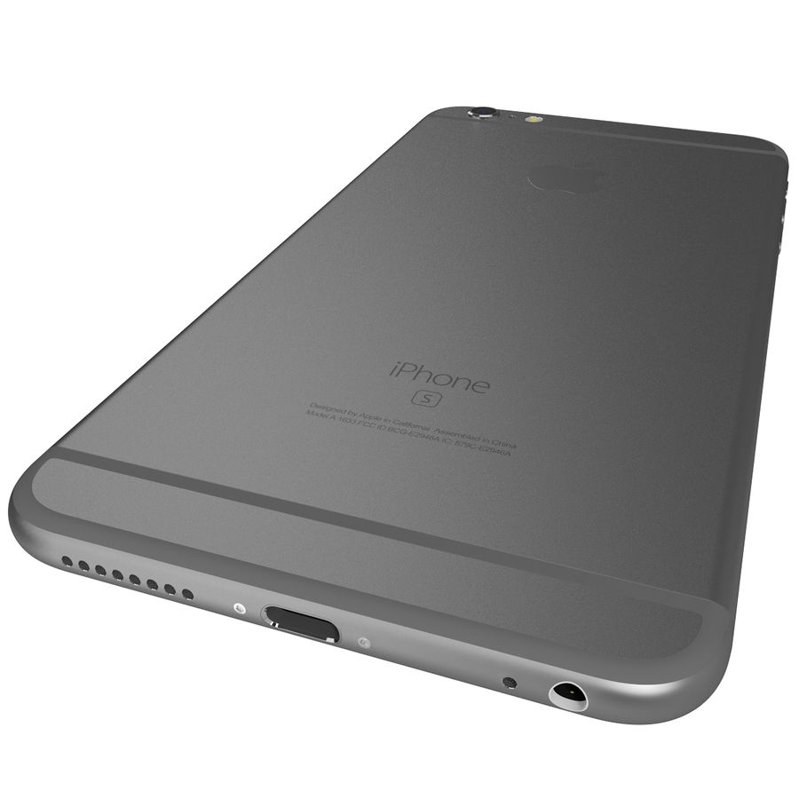 Apple iPhone 6s Plus Space Grey royalty-free 3d model - Preview no. 11