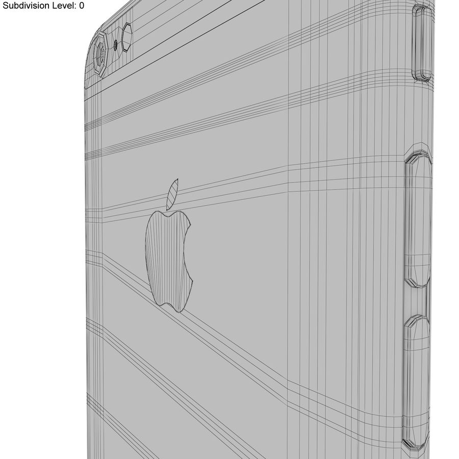 Apple iPhone 6s Plus Space Grey royalty-free 3d model - Preview no. 27
