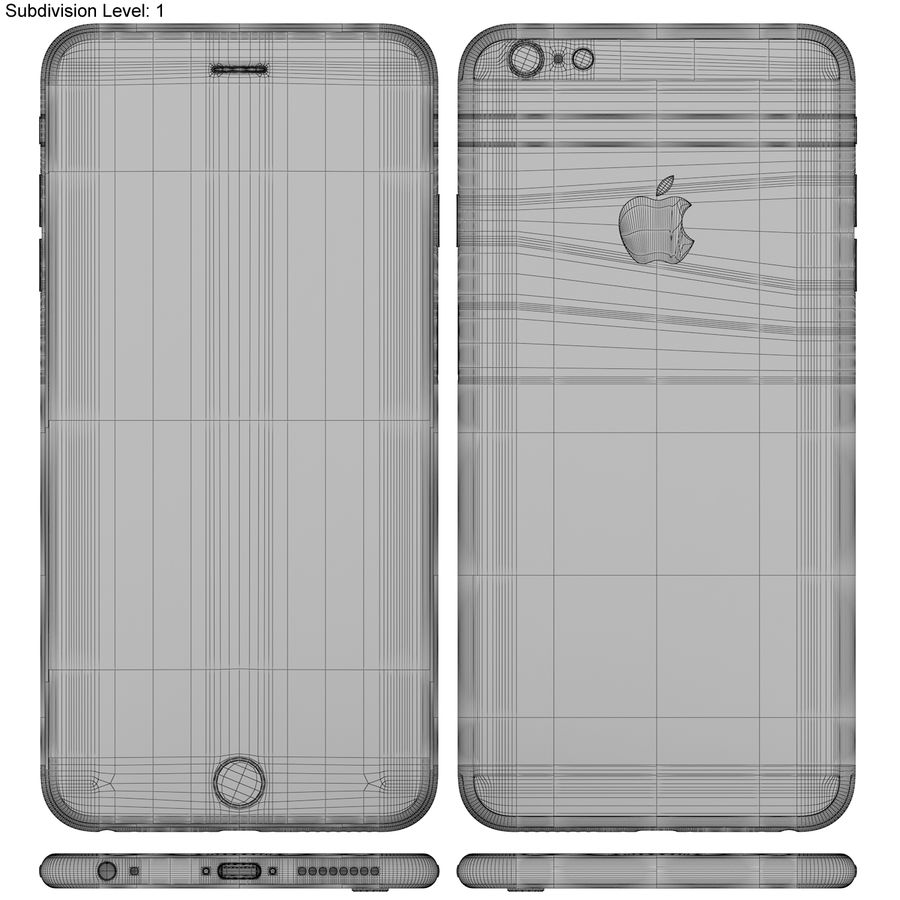 Apple iPhone 6s Plus Space Grey royalty-free 3d model - Preview no. 20