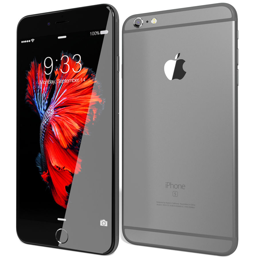 Apple iPhone 6s Plus Space Grey royalty-free 3d model - Preview no. 4