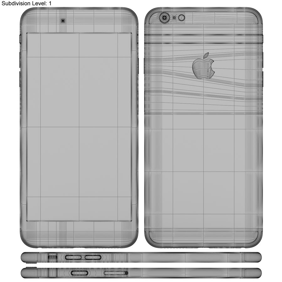 Apple iPhone 6s Plus Space Grey royalty-free 3d model - Preview no. 22